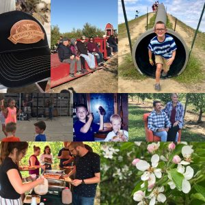 Stuckey Gear, Wagon rides, Giant Slide, Music, Blossoms, small event, Bees